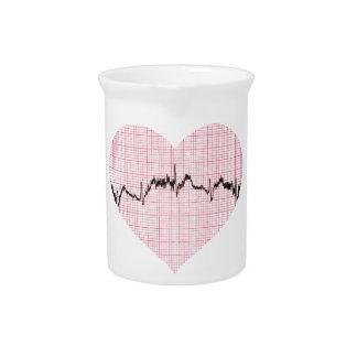 Heart Beat III Beverage Pitcher