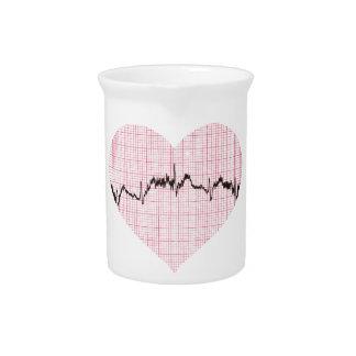 Heart Beat III Beverage Pitchers