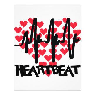heart beat love hearts custom flyer