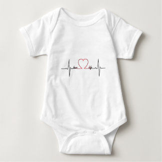 Heart beat love life inspirational quote baby baby bodysuit