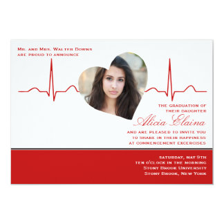 Heart Beat Photo Announcement/Invitation 13 Cm X 18 Cm Invitation Card