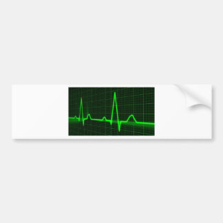 Heart Beat Pulse Trace Bumper Stickers