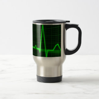 Heart Beat Pulse Trace Stainless Steel Travel Mug