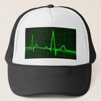 Heart Beat Pulse Trace Trucker Hat
