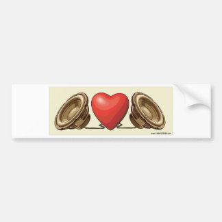Heart beats bumper sticker