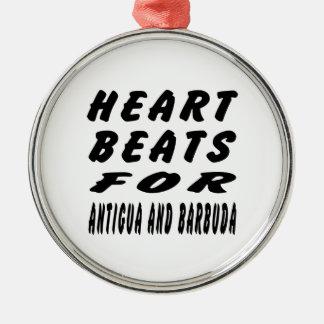 Heart Beats For Antigua and Barbuda Ornaments