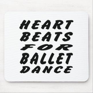 Heart Beats For Ballet Dance Mousepad
