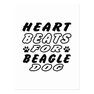 Heart Beats For Beagle Postcard