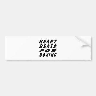 Heart Beats For Boxing Car Bumper Sticker