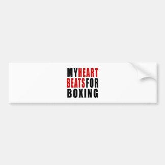 HEART BEATS FOR BOXING BUMPER STICKER