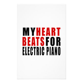 HEART BEATS FOR ELECTRIC PIANO PERSONALIZED STATIONERY