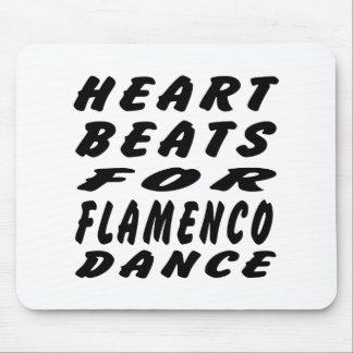 Heart Beats For Flamenco Dance Mouse Pad
