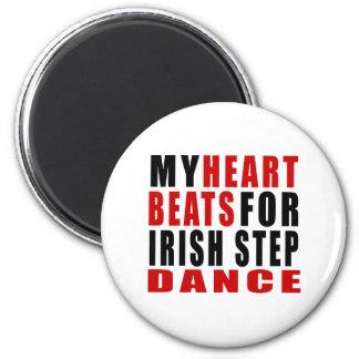 HEART BEATS FOR IRISH STEPDANCE 2 INCH ROUND MAGNET