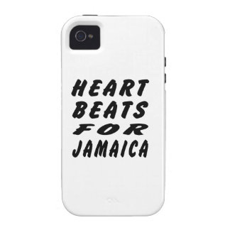 Heart Beats For Jamaica Vibe iPhone 4 Covers