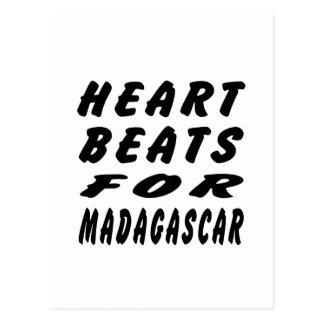 Heart Beats For Madagascar. Postcard
