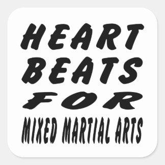 Heart Beats For Mixed martial arts Martial Arts Stickers