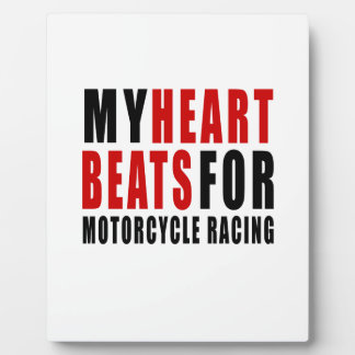 HEART BEATS FOR MOTORCYCLE RACING PHOTO PLAQUES