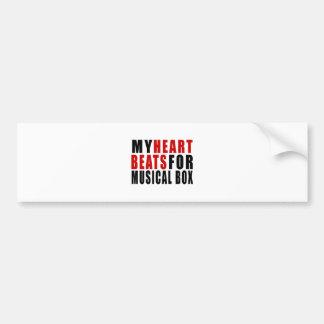 HEART BEATS FOR MUSICAL BOX BUMPER STICKER