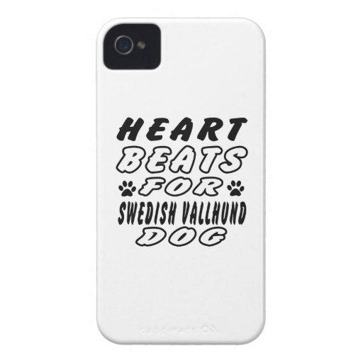 Heart Beats For Swedish Vallhund iPhone 4 Case