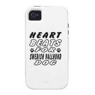 Heart Beats For Swedish Vallhund iPhone 4 Cover