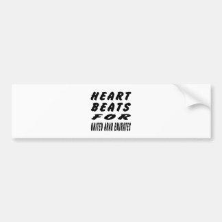 Heart Beats For United Arab Emirates Bumper Sticker