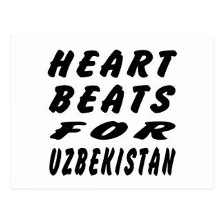 Heart Beats For Uzbekistan Postcard