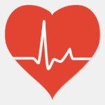 Heart Beats Round Sticker