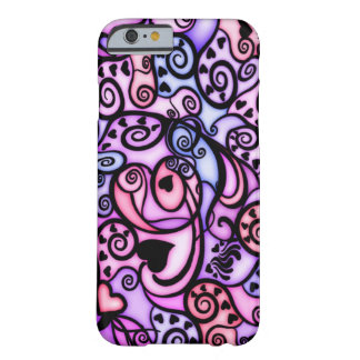 Heart Beats Singing, Stained Glass style Barely There iPhone 6 Case