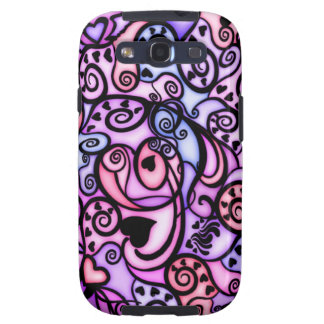 Heart Beats Singing, Stained Glass style Galaxy S3 Case