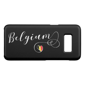 Heart Belgium Mobile Phone Case, Belgian Flag Case-Mate Samsung Galaxy S8 Case