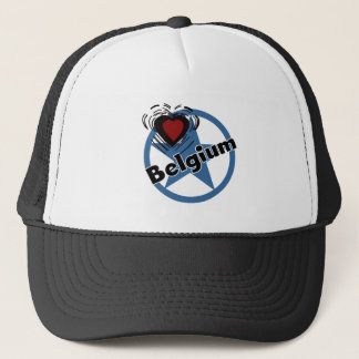 Heart Belgium Trucker Hat