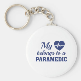 Heart Belongs Paramedic Key Ring