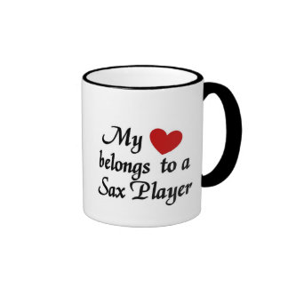 Heart belongs to a Sax Player Mugs