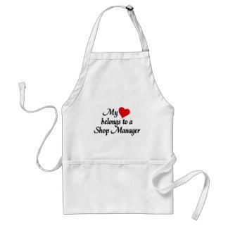 Heart belongs to a Shop Manager Standard Apron