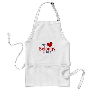 Heart belongs to ben standard apron