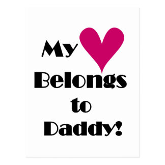 Heart Belongs to Daddy Tshirts and Gifts Postcard