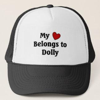 Heart belongs to dolly trucker hat