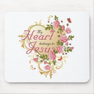 Heart belongs to Jesus Mouse Mat