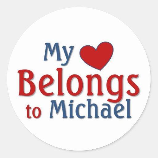 Heart belongs to Michael Stickers