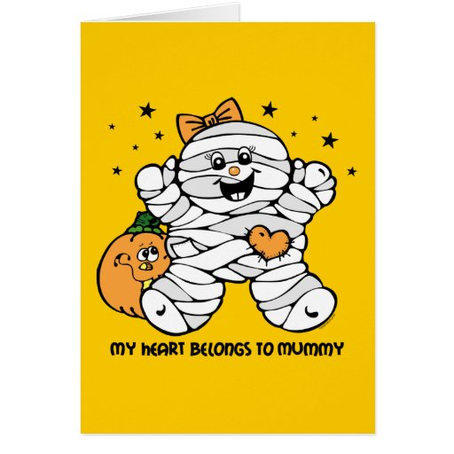Heart Belongs To Mummy Girl Greeting Cards