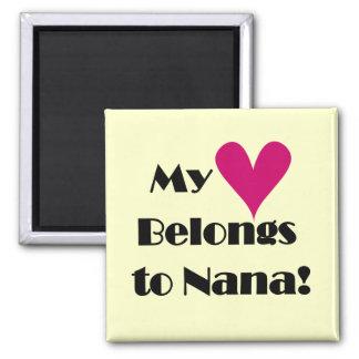 Heart Belongs to Nana Tshirts and Gifts Magnets