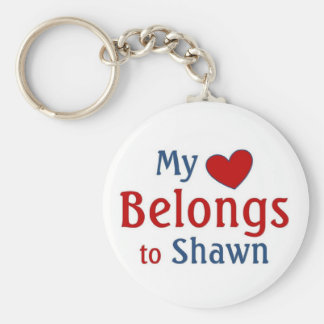 heart belongs to Shawn Basic Round Button Key Ring