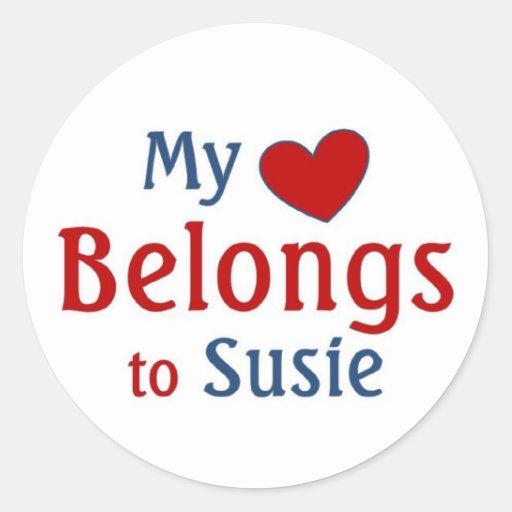 heart belongs to susie sticker