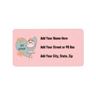 Heart Big Sister Address Label