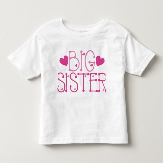 Heart Big Sister Toddler T-Shirt