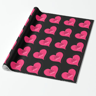 Heart Birthday Wrapping Paper