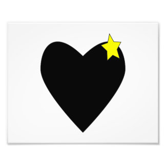 heart black with yellow star.png photo