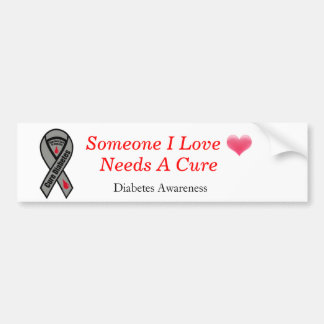 heart-blending, how-to-cure-diabetes, Diabetes ... Bumper Sticker