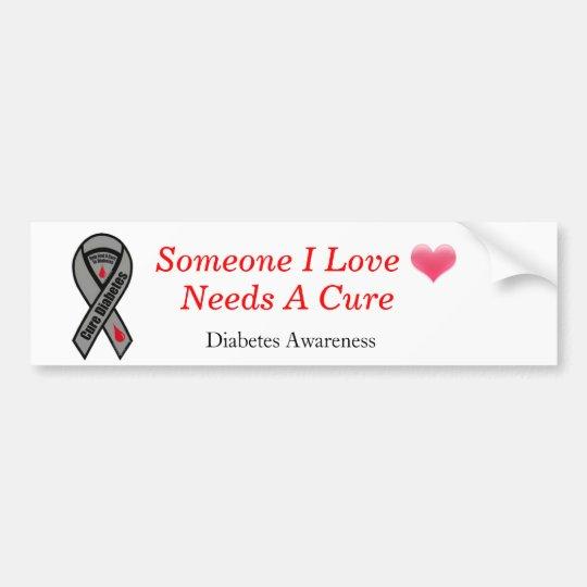 heart-blending, how-to-cure-diabetes, Diabetes  Bumper Sticker