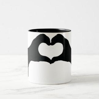 Heart Blob Two-Tone Mug